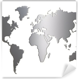World maps in black and white wall murals pixers world map silhouette isolated on white background vinyl wall mural gumiabroncs Gallery