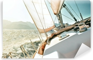 Yacht sailing Vinyl Wall Mural