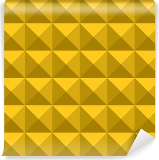 yellow gold triangle pattern Vinyl Wall Mural