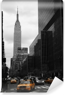 Yellow taxis on 35th street, Manhattan, New York Vinyl Wall Mural