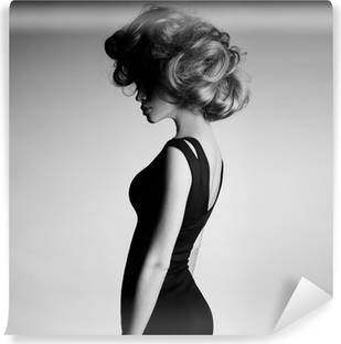 Young beautiful lady in elegant dress Vinyl Wall Mural