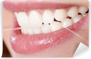 Zahnpflege mit Zahnseide Vinyl Wall Mural