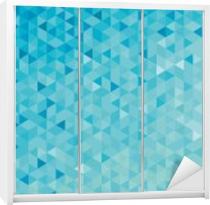 Abstract geometric banner Wardrobe Sticker