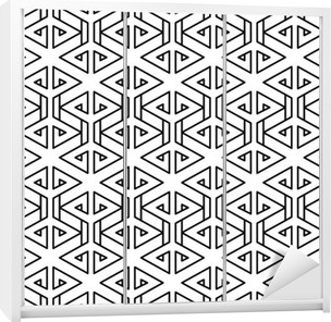Abstract geometric black and white hipster fashion pillow pattern Wardrobe Sticker