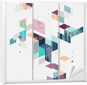 Abstract modern geometric background Wardrobe Sticker