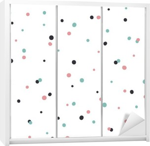 Abstract Seamless Pattern on White Background with Black and Gol Wardrobe Sticker