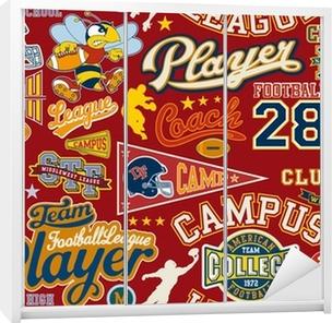 American football seamless vector pattern Wardrobe Sticker