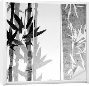 Bamboo / Texture Wardrobe Sticker