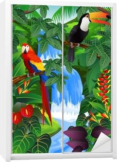 Beauiful tropical background Wardrobe Sticker