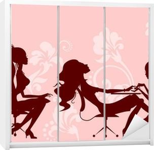beauty salon Wardrobe Sticker