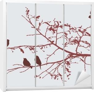 birds in the spring Wardrobe Sticker
