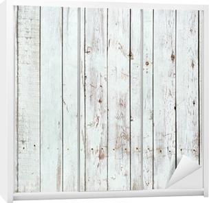 Black and white background of wooden plank Wardrobe Sticker