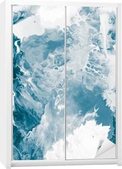Blue marble texture. Wardrobe Sticker