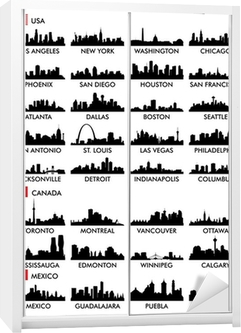 City skyline North America Wardrobe Sticker