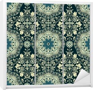 Damask seamless pattern Wardrobe Sticker