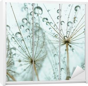 Dandelion seed with drops Wardrobe Sticker