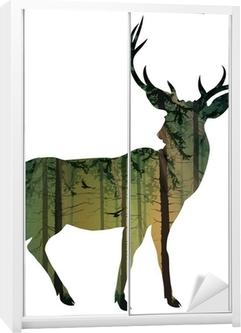 deer Wardrobe Sticker