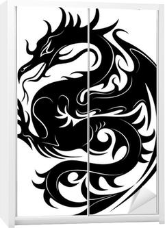 Drago Tatuaggio-Dragoon Tattoo-Tatouage Dragon-2 Wardrobe Sticker