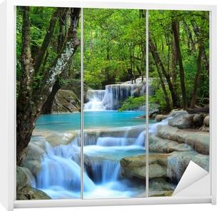 Erawan Waterfall, Kanchanaburi, Thailand Wardrobe Sticker