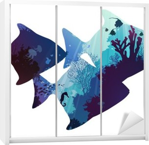 fish Wardrobe Sticker