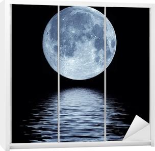 Full moon over water Wardrobe Sticker