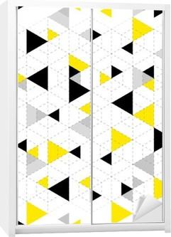 Geometric Pattern Background Wardrobe Sticker