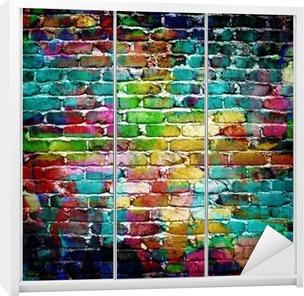 graffiti brick wall Wardrobe Sticker