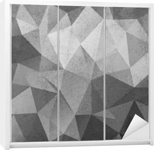 Grunge black&white polygonal vintage old background. Wardrobe Sticker