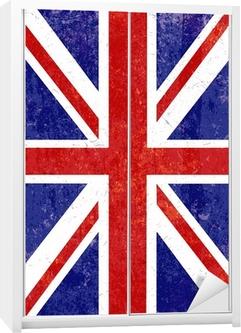 Grunge Union Jack background Wardrobe Sticker