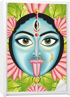 Kali - Indian Goddess face. Wardrobe Sticker