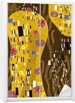 klimt inspired abstract art Wardrobe Sticker