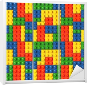 Lego background Wardrobe Sticker