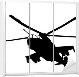 Mi-24 (Hind) helicopter silhouette Wardrobe Sticker