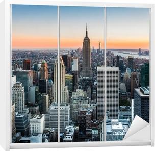 New York skyline at sunset Wardrobe Sticker