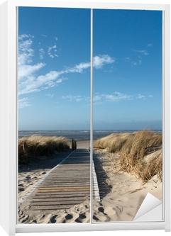 Nordsee Strand auf Langeoog Wardrobe Sticker