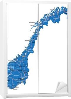Norway map Wardrobe Sticker