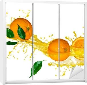 Orange juice isolated on white Wardrobe Sticker