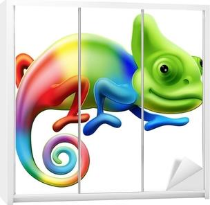 Rainbow chameleon Wardrobe Sticker