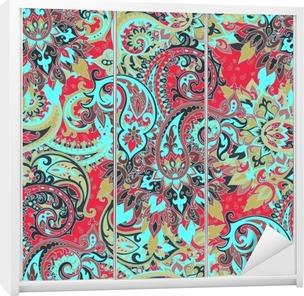 Seamless paisley pattern Wardrobe Sticker
