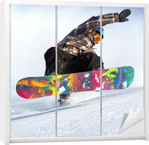 snowboard evolution Wardrobe Sticker