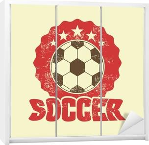 soccer design Wardrobe Sticker
