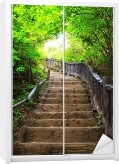 Stairway to forest Wardrobe Sticker