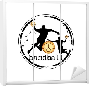 timbre handball Wardrobe Sticker