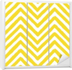 Vector Chevron Yellow Seamless Pattern Wardrobe Sticker