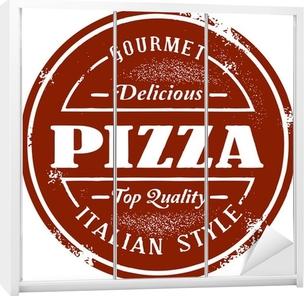 Vintage Pizza Menu Stamp Wardrobe Sticker