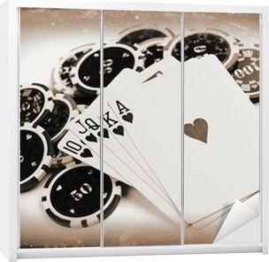 vintage poker concept Wardrobe Sticker