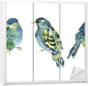 Watercolor bird collection for your design. Wardrobe Sticker