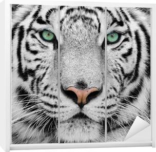 white tiger Wardrobe Sticker