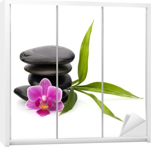 Zen pebbles balance. Spa and healthcare concept. Wardrobe Sticker