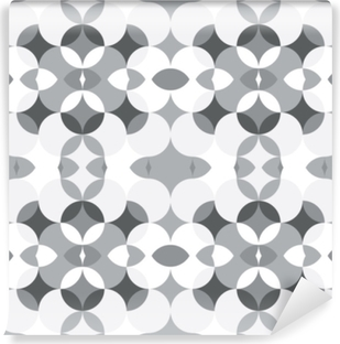 Abstract floral geometric seamless pattern . Kaleidoscopic, light white and grey colored shapes. Washable Wall Mural